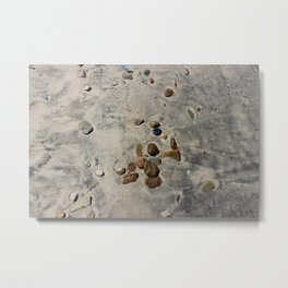 Beach after the surf goes out Metal Print