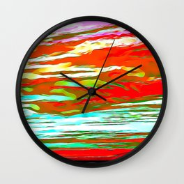Life is colorful Wall Clock