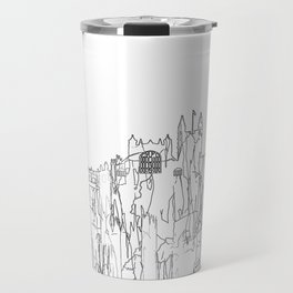 Bath, UK Skyline B&W - Thin Line Travel Mug