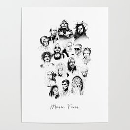 Music Faces Poster