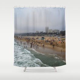 Santa Monica . Shower Curtain
