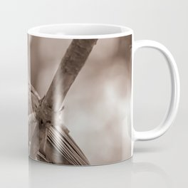 Northern Red Cardinal BW Coffee Mug