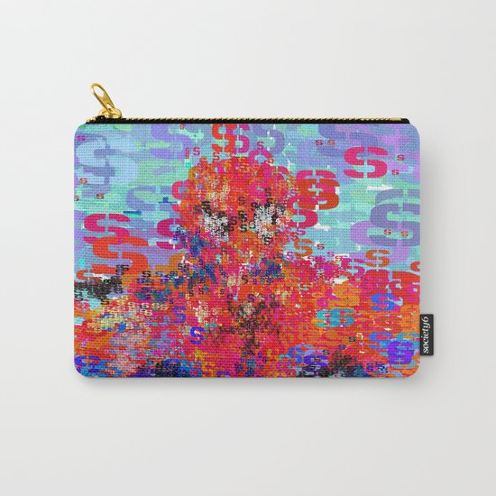 Spider Type Man - Abstract Pop Art Comic Carry-All Pouch