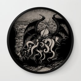 The Rise of Great Cthulhu Wall Clock
