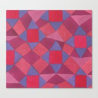 quilt Canvas Prints featuring Quilt by leah reena goren