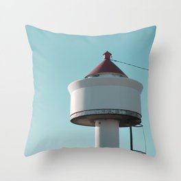 The Beach Tower Throw Pillow