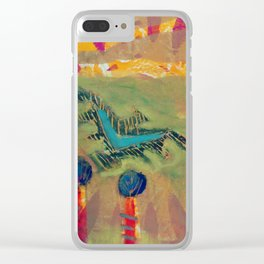 Bright eyed crow Clear iPhone Case