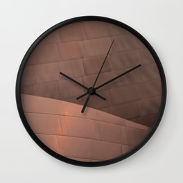 Architectural abstract in copper of the home of the LA Philharmonic. Architect: Frank Gehry Wall Clock