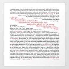 American Pie (all of it) Art Print