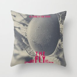 The Fly, horror movie poster, David Cronenberg, Jeff Goldblum, alternative playbill Throw Pillow