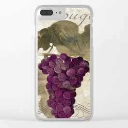 Tuscan Table Rouge Clear iPhone Case