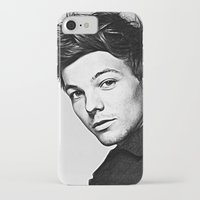 louis tomlinson iPhone & iPod Cases featuring Louis Tomlinson by D77 The DigArtisT