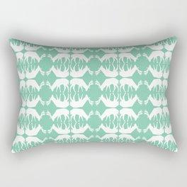 Oh, deer! in mint green Rectangular Pillow