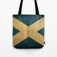 scotland Tote Bags featuring Scotland by NicoWriter