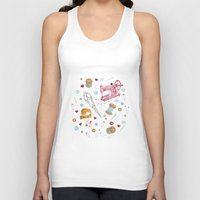 sewing Tank Tops featuring Sewing by Epoque Graphics