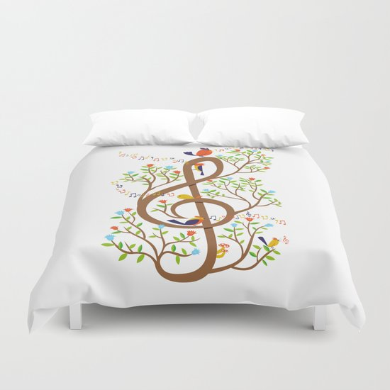 Song birds Duvet Cover