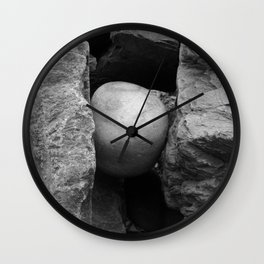 Rock Between Two Hard Places Wall Clock