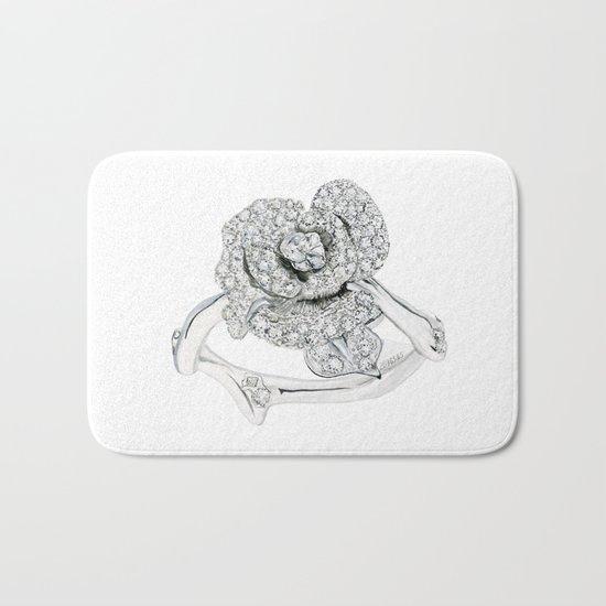 Silver Rose Ring Bath Mat