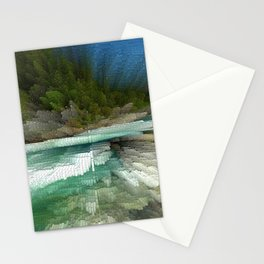 Abstract Landsape Stationery Cards
