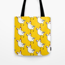 Two Headed Chicken Repeat Pattern Tote Bag