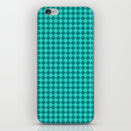 Teal and Turquoise Diamonds iPhone Skin