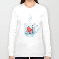 tea Long Sleeve T-shirts featuring Octopus Tea by Freeminds