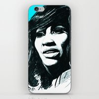tina crespo iPhone & iPod Skins featuring Tina Turner by ChrisGreavesCreative