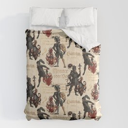 Medieval Knights in Shining Armor Comforters