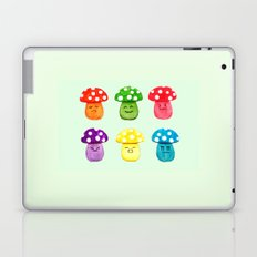 cute mushroom emoji watercolor painting  Laptop & iPad Skin