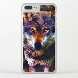 Wolf Timber Clear iPhone Case