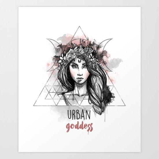 Urban Goddess Art Print