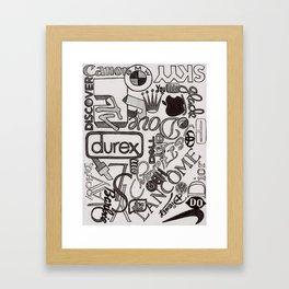 Logo Mania Framed Art Print