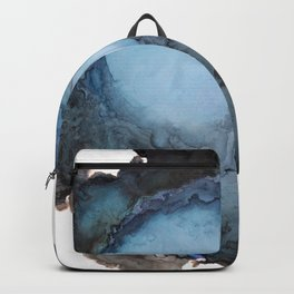 Black and Blue Vortex Ink Painting Backpack