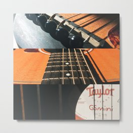 This Old Guitar Collage Metal Print