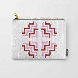 Chevron Hearts Design Carry-All Pouch