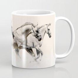 horses prancing in the clouds Coffee Mug