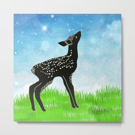 Hand drawn deer #1 * pretty tribal animals rustic woodland country Metal Print