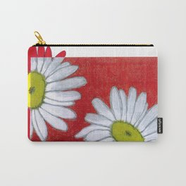 Daisies in red Carry-All Pouch