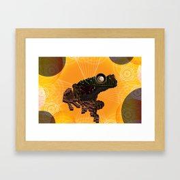 Object Examination: Frog Framed Art Print