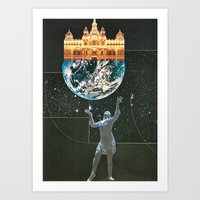 Peace On Earth - collage Art Print