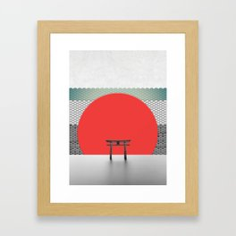 The Red Sun Framed Art Print