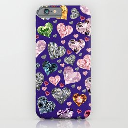 Heart Diamonds are Forever Love Violet iPhone Case