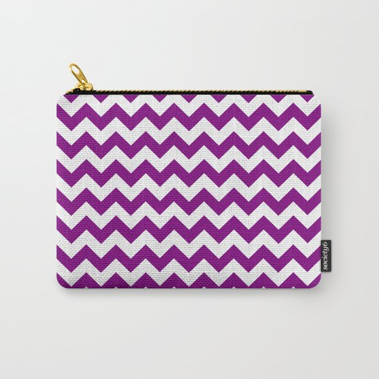 Chevron (Purple/White) Carry-All Pouch
