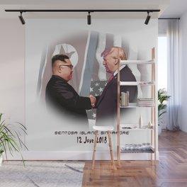 Trump Kim Summit Wall Mural