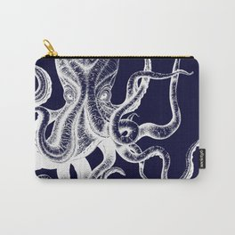 Vintage Octopus Blue Carry-All Pouch