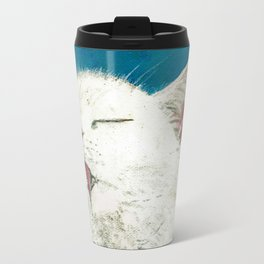 White Cat Grooming Travel Mug