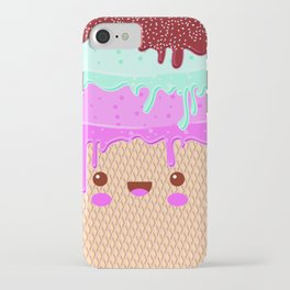 kawaii melted ice cream iPhone Case
