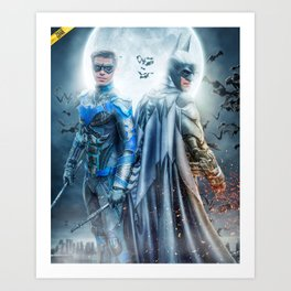 the Dynamic Duo Art Print