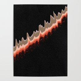 Retro Lava Lines Poster