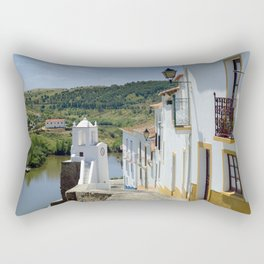 Narrow cobbled street in the Alentejo, Portugal Rectangular Pillow